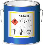 Эмаль НЦ-273 серебристая (1кг)