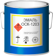 Эмаль ОСК-12-03 черная (1кг)